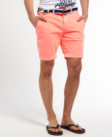 neon-coral-superdry-shorts