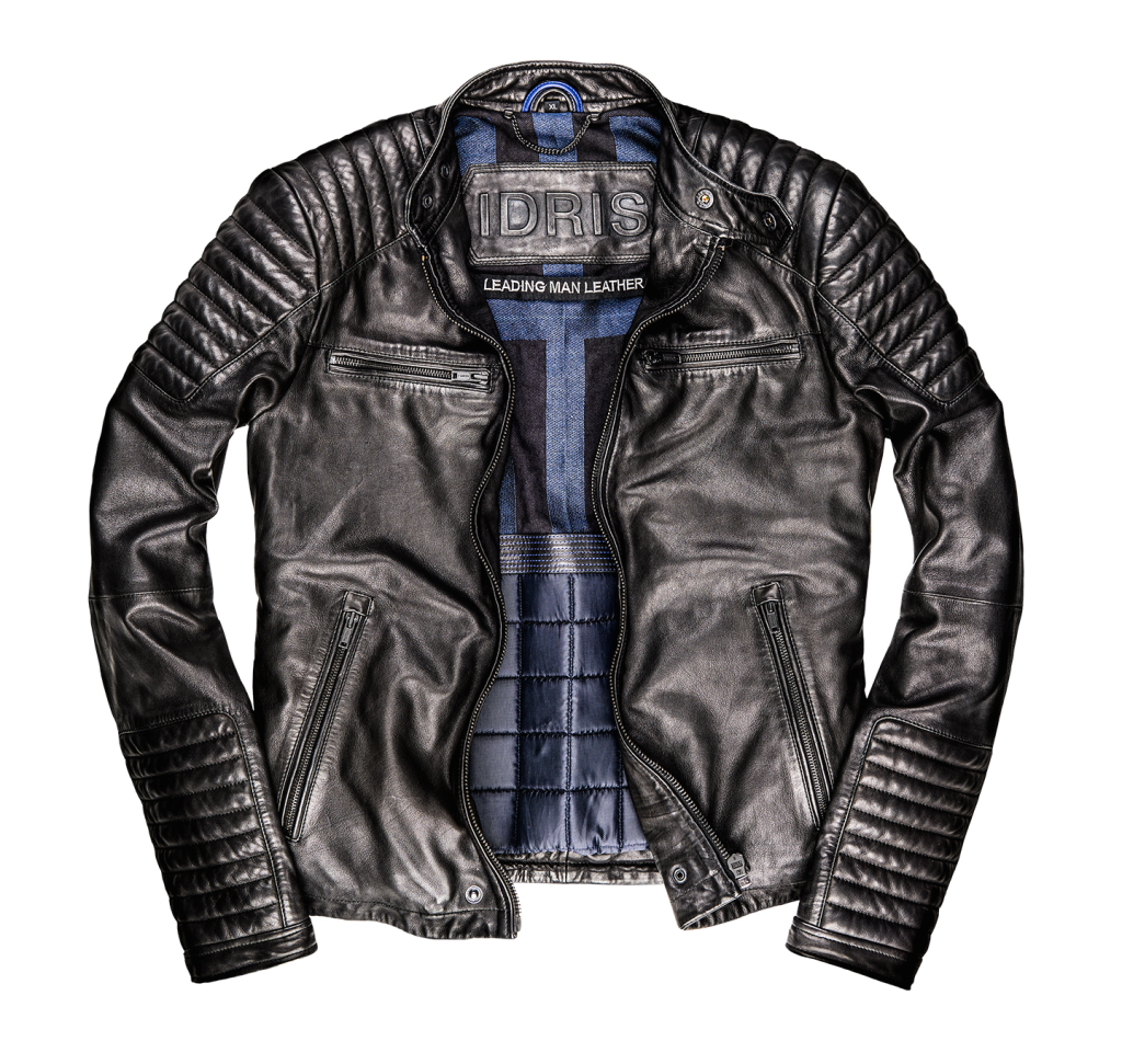 idris elba superdry - leading man leather jacket