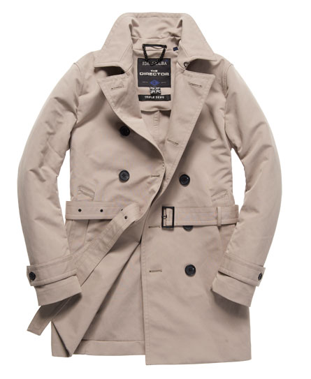 superdry idris director trench coat