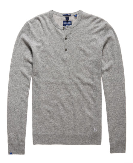 superdry x idris elba leading cashmere button jumper