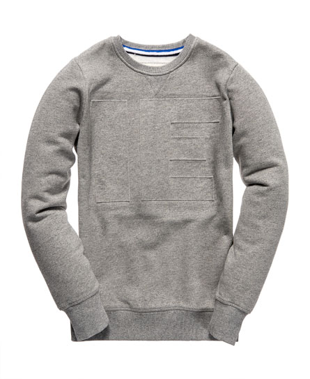 superdry idris embossed sweater