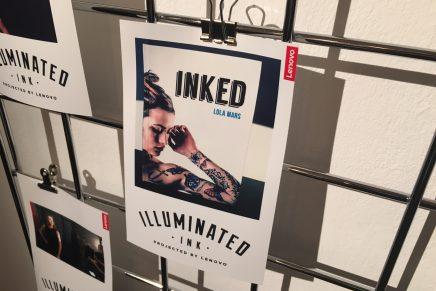 Lenovo's Illuminated Ink Pop Up Highlights