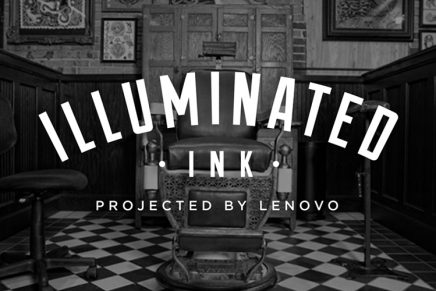 Lenovo's Illuminated Ink Tattoo Parlour Pop-Up in Soho