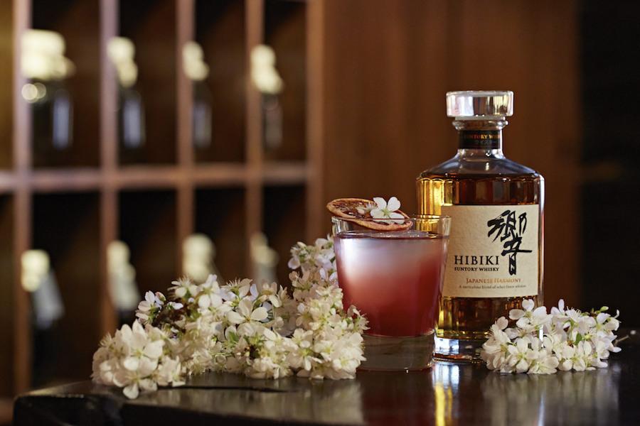 sakura at rosa with suntory whisky