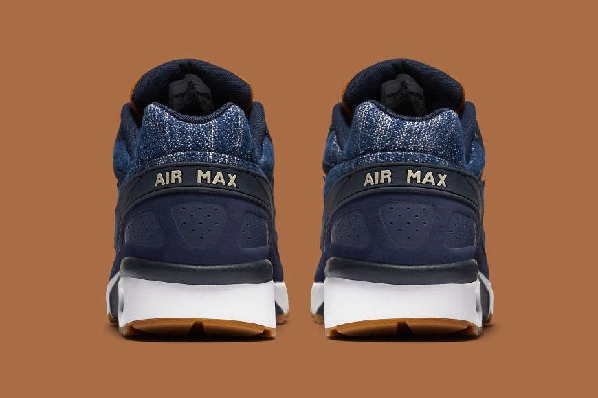 nike air max bw denim rear view